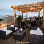 Roof Deck at dusk