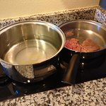 Pans do not fit on stove top