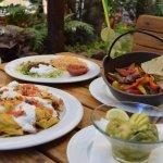 Nachos Supreme + Fajitas + Krevetová koktejl s avodádem