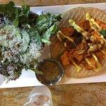 Chicken Tiki in a pita w. side salad