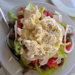 greek salad con myzitra homemade