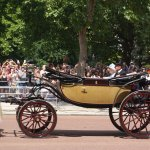 The Queen and the Duke of Edinburgh on their way back to Buckingham Palace