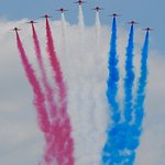 The Red Arrows on their flypast!