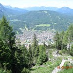View of Mittenwald from the Hutte