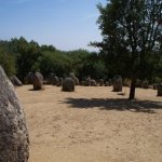 Alemendres Cromlech standing stones, Evora, Portugal