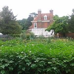 The walled garden and house