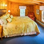 Second floor room with queen bed in Carriage house. All Carriage House rooms come with private b