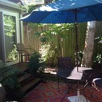 private patio for cttage