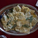 Ravioli with butter-sage sauce