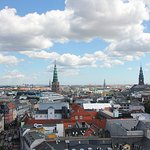 View from the top of a Copenhagen tower.