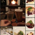 6 course degustation menu and a roaring fire. Absolutely divine. This bloke is an amazing chef!!