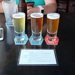 Beer tasting board.