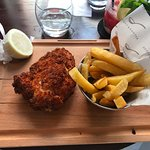 """Chicken (delicious!) with """"chips"""""""