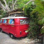 VW bus in the back next to the Patio