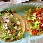 Buffalo chicken & gyro tacos