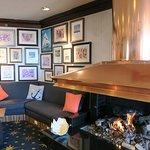 Super cozy hotel lobby!