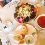 Emperor's Salad and Lobster Bisque