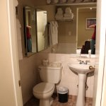Bathroom with pedestal sink (shower/tub not shown)