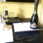 Gift of prosecco from hotel