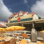 View of Captain Frenchy's restaurant from the beach