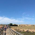 Bridge to reach the beach