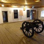 Upper floor with attending cannon