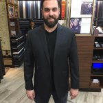 Mr. A looking dapper in his Charcoal Grey Vitale Barberis Canonico Jacket