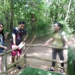 a photo at Cu Chi tunnel