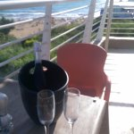 Prosecco on the terrace of 'the Apples Eye'
