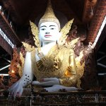 This huge seated Buddha image is located across the Chauk Htat Gyi  and named Nga Htat G