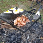 Can't beat bacon and eggs on the open fire