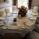 The private room can be booked for wedding receptions.