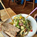 Vegan Pak Thai salad