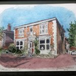 Painting of the House by one of our regular visitors