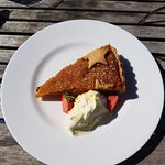 Treacle Tart with clotted cream.