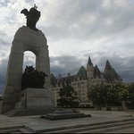 War Memorial, with Chateau Laurier in the background