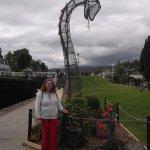 Nessie sculpture.