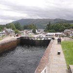 The view from the locks towards Loch Ness.