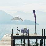 Fein essen und trinken in Weggis, direkt am See mit einmaliger Aussicht.