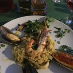 Seafood risotto - full of mussels, prawns, calmari, squid and octopus