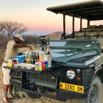 Sundowners were a real highlight - and an amazing choice