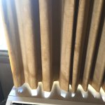 Water stained drapes