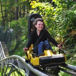 Wisp's Mountain Coaster is a favorite activity in the Deep Creek Lake Area.