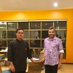 With Sous Chef Manohar Rawat