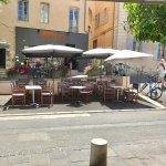 La terrasse rue piéton