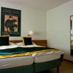 Basic hotel room at Hotel du Rhone
