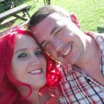 pic of me and hubby loving the garden :)