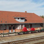 This is a view of Cornelia's Historic Train Depot from the active railroad tracks.