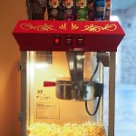 Popcorn machine in lobby