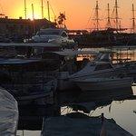 Sunset over Girne harbour